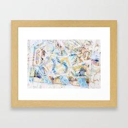 Mosaic of Barcelona XVII Framed Art Print