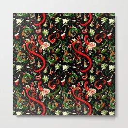 Swirly Trendy_Black Metal Print