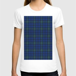 Minimalist Black Watch Tartan Modern T-shirt