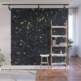 Blacklight Party Splatter Painting Version 2 Wall Mural