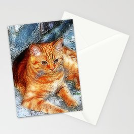 Tiger little cousin Stationery Cards