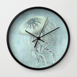 Jellyfish Underwater Aqua Turquoise Art Wall Clock