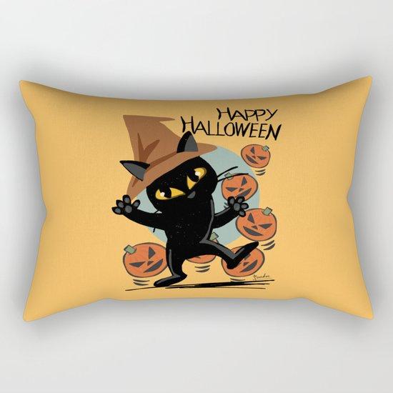 Cat Halloween Rectangular Pillow