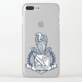 Nolite Te Bastardes Carborundorum_Crest Clear iPhone Case