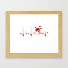 DRUMS HEARTBEAT Framed Art Print