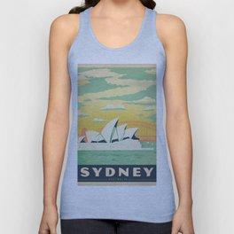 Vintage poster - Sydney Unisex Tank Top