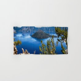 Deep Blue - Crater Lake on Summer Day in Oregon Hand & Bath Towel