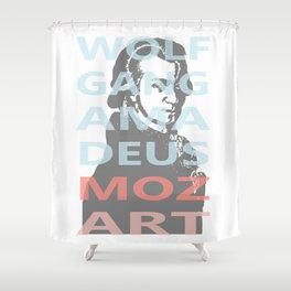 Wolfgang Amadeus Mozart Shower Curtain