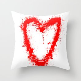 z rocking mom life red heart Throw Pillow