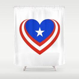 Puerto Rico en el corazón Shower Curtain