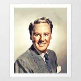 Van Johnson, Vintage Actor Art Print