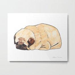 Pugloaf - The Sleeping Pug Metal Print