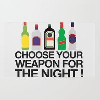 whisky Area & Throw Rugs featuring Choose your weapon ! by Thomas Official