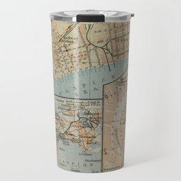 Vintage Baku Azerbaijan Map (1914) Travel Mug