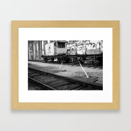 Point Lever Framed Art Print