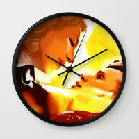 river song Wall Clocks featuring Find River Song by Nero749