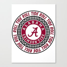 Alabama University Roll Tide Crimson Tide Canvas Print