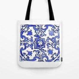 Blue and White Portuguese tile Tote Bag