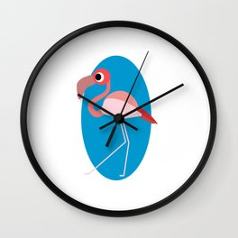 Awkward as Flock Wall Clock