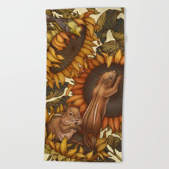 Autumn Beach Towel