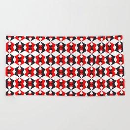 Geometric Pattern 115 (red hexagon) Beach Towel