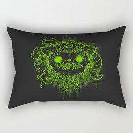 Antler Monster - Neon Rectangular Pillow