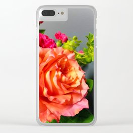 Coral Rose Clear iPhone Case