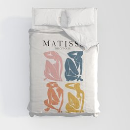 Abstract woman pastel color matisse woman artwork the cut outs Comforters