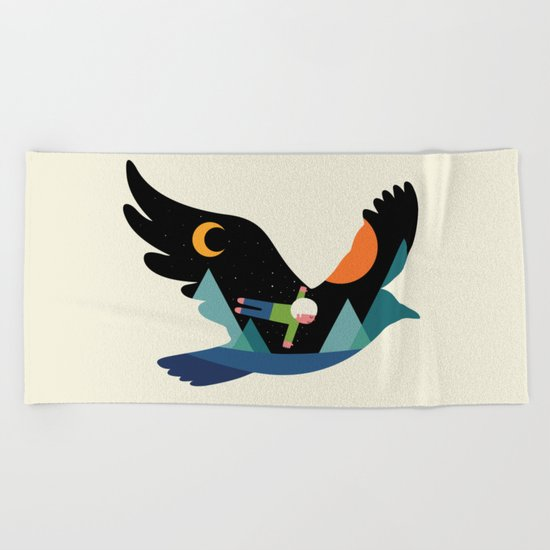 I Believe I Can Fly Beach Towel