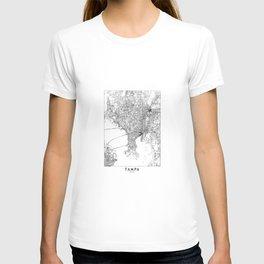 Tampa White Map T-shirt