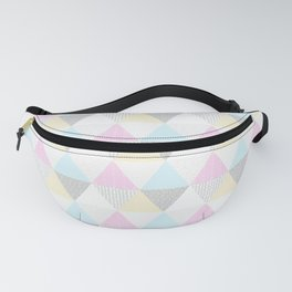 Triangle Quilt in Pastels Fanny Pack