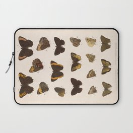 Vintage Scientific Hand Drawn Illustration Anatomy Of Butterfly Insect Patterns Biology Art Laptop Sleeve