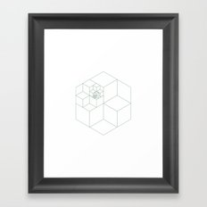 #335 All those cubes – Geometry Daily Framed Art Print