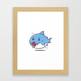 Baby Shark Framed Art Print