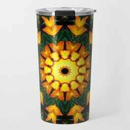 Iris 002.2, Nature Flower Mandala, Floral mandala-style Travel Mug