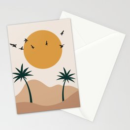 Abstract Desert Landscape Stationery Cards