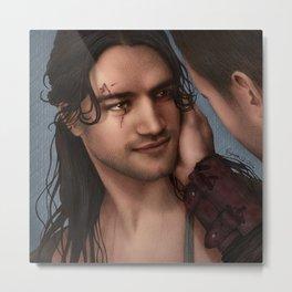 Nagron First Kiss (Nasir, Spartacus) Color Version Metal Print