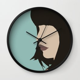 Cara - a modern, minimal abstract portrait of a woman Wall Clock