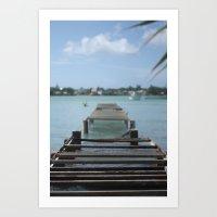 Turquoise Paradise Art Print