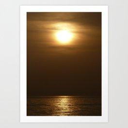 Sunset in tarifa Art Print