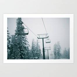 Ski Lift II Art Print