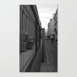 Paris urban black and white with color Canvas Print
