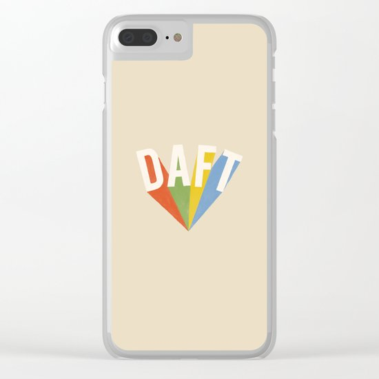 Letters : Daft Clear iPhone Case