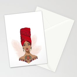 AFRICANWOMAN Stationery Cards