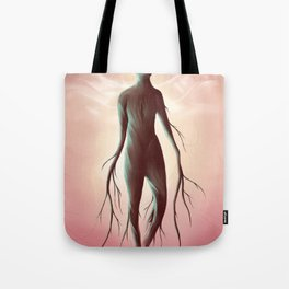 Carved in the wood of temptation Tote Bag