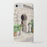 arab iPhone & iPod Cases featuring Arab Baths Palma de Mallorca DP151029b-14 by CSteenArt