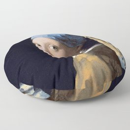 GIRL WITH A PEARL EARRING - JOHANNES VERMEER Floor Pillow