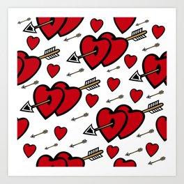 Heart background Art Print