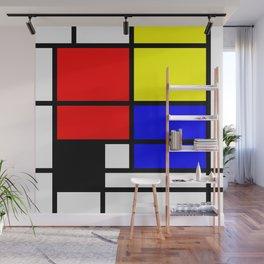 Mondrianista Wall Mural