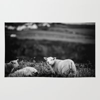 lamb Area & Throw Rugs featuring Lamb by BethWold